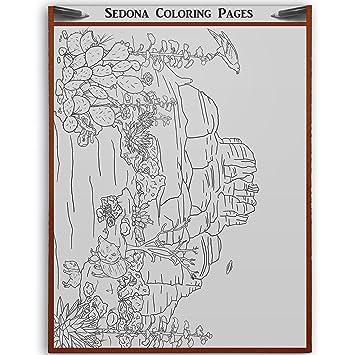 Amazon.com: Sedona Arizona - Adult Coloring - Bell Rock - Vortex ...