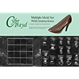 Cybrtrayd BUN-M033M035 2-Piece Chess Pieces and Board Chocolate Molds