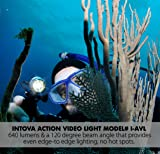 Intova LED Waterproof Action Video Light with 640