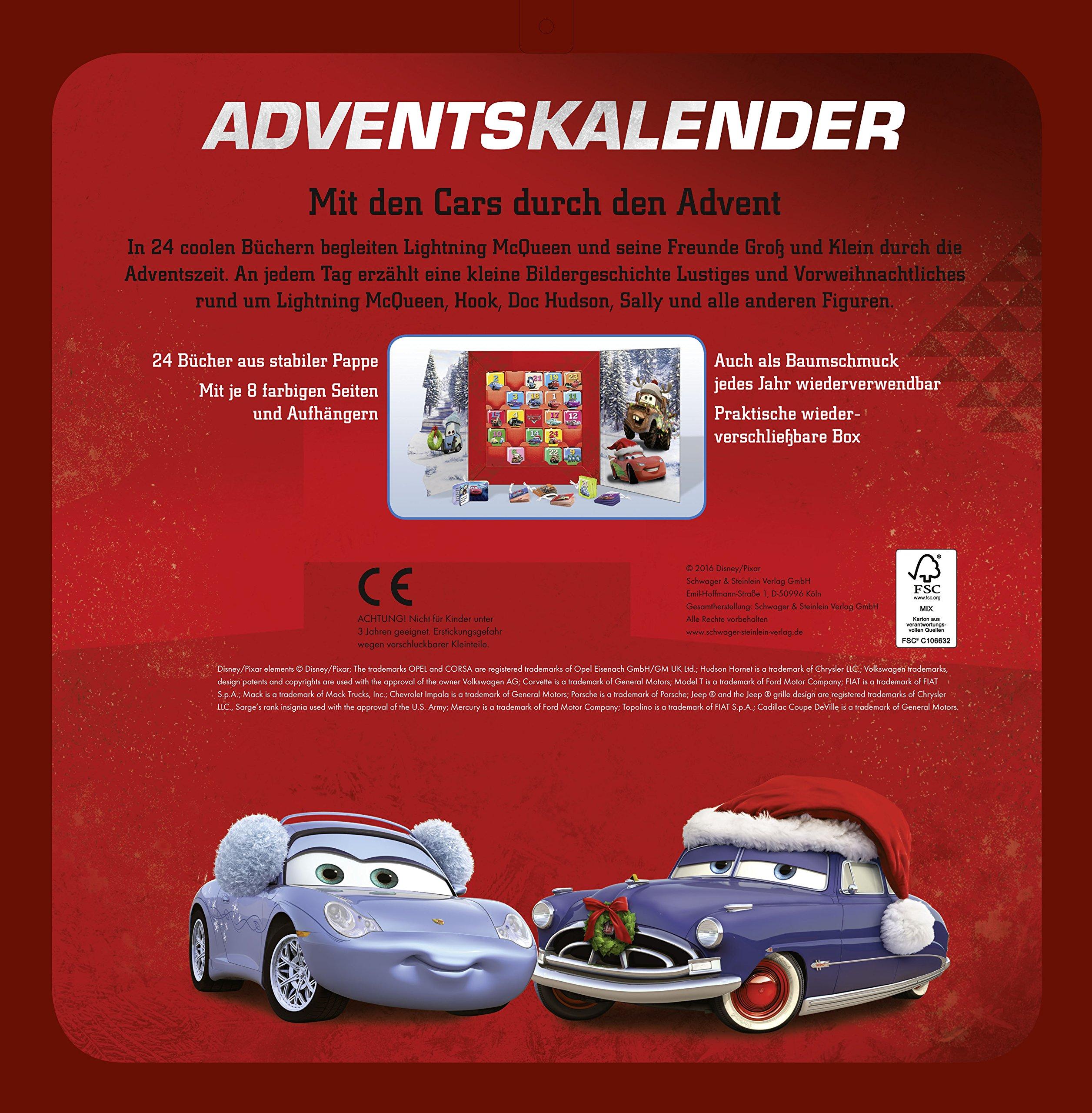 Cars Weihnachtskalender.Cars Mein Adventskalender 9783849909505 Amazon Com Books