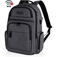KROSER Travel Laptop Stylish 15.6 Inch Backpack with RFID Pockets for Work/Business/College/Men/Women (Charcoal Black)