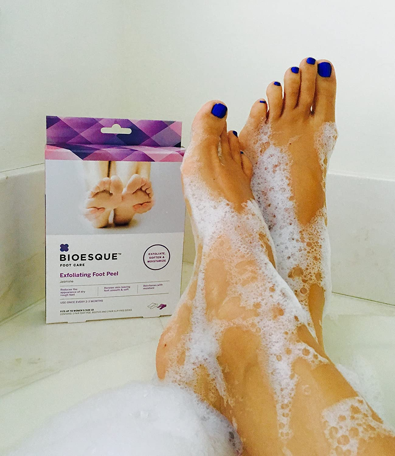 Amazon: Bioesque Exfoliating Foot Peel For Baby Soft Feet: Sports &  Outdoors