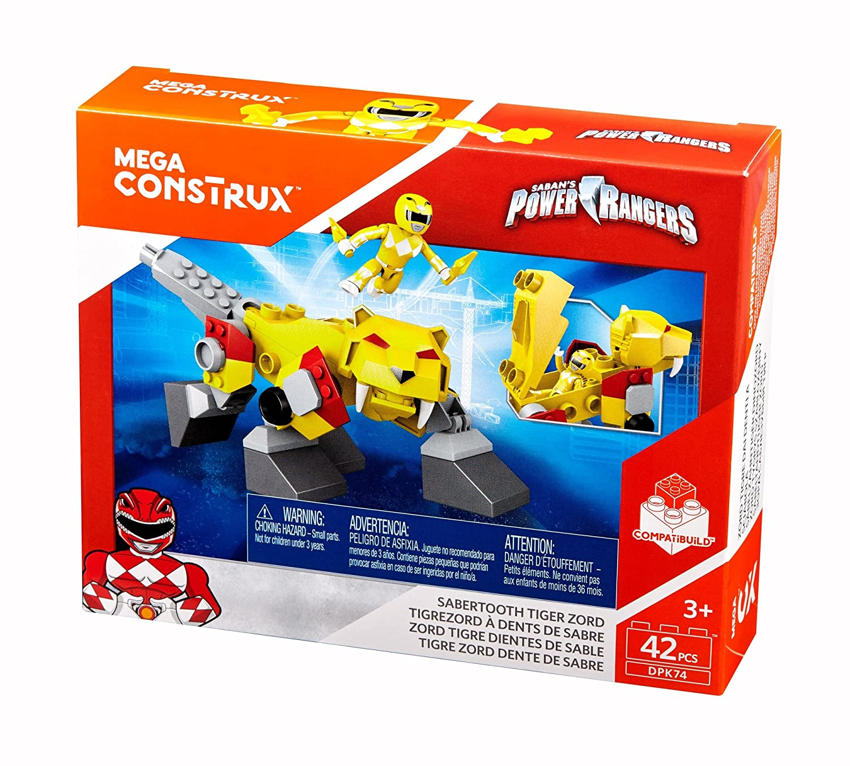 Mega Construx Power Rangers Sabertooth Zord Building Kit: Amazon com