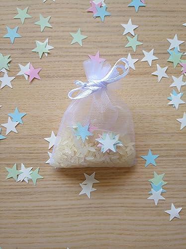 Bolsas de organza con arroz y confeti modelo stars para boda ...