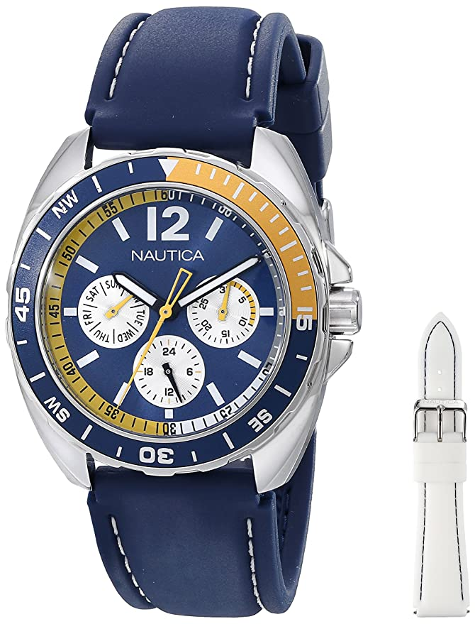 Nautica N09915G - Reloj de Pulsera Hombre, Resina, Color Azul: Nautica: Amazon.es: Relojes