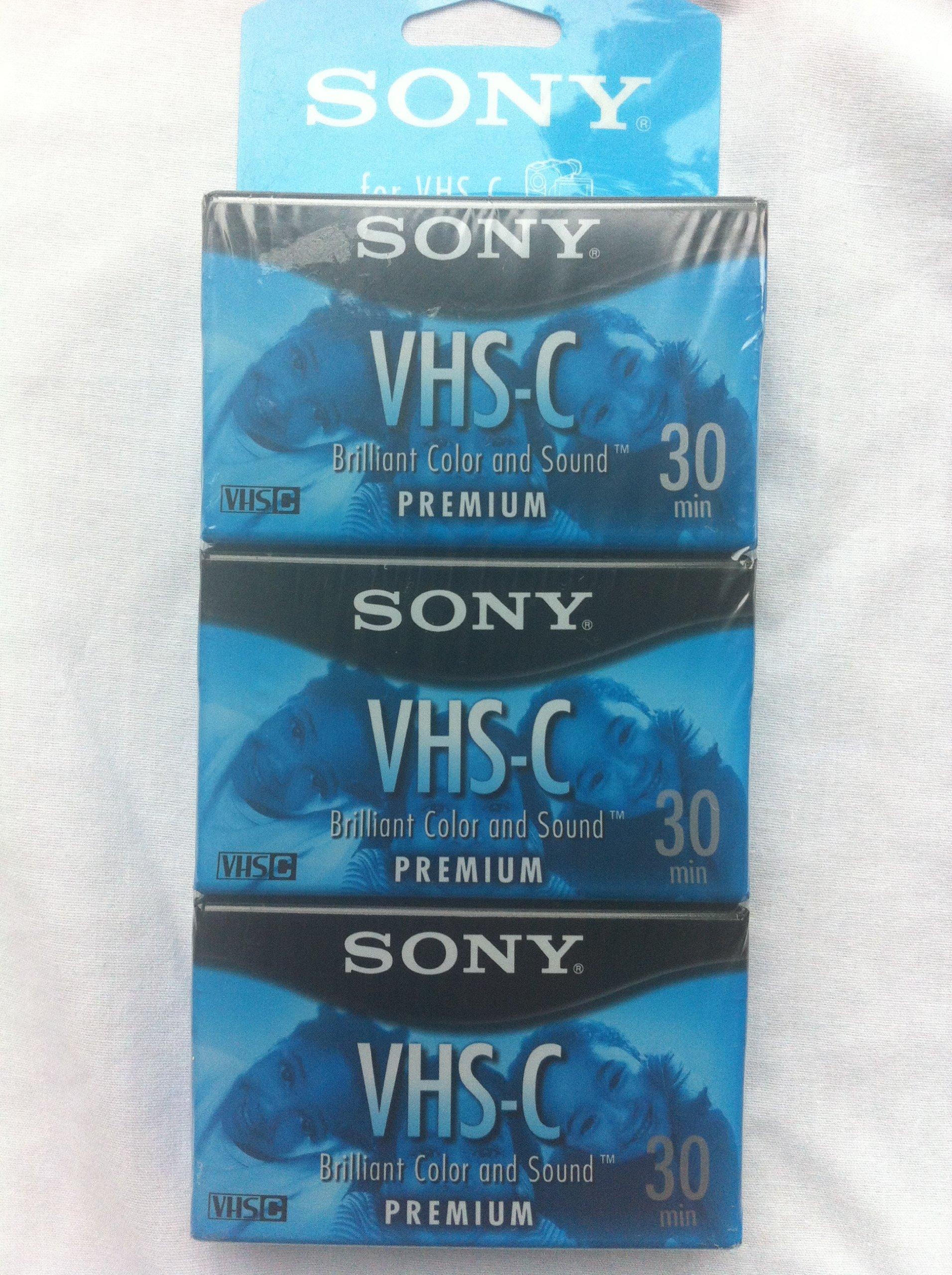 Sony VHS-C Premium 30 Min 3-Pack