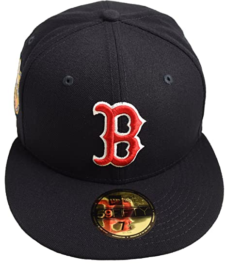 67d5930f New Era 59Fifty Boston Red Sox World Series Golden Hit Fitted, Navy Size 7 3