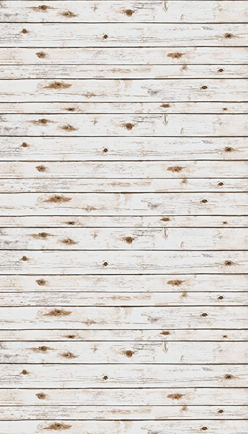 Ella Bella Photography Backdrop Paper White Washed Wood 48quot X 12