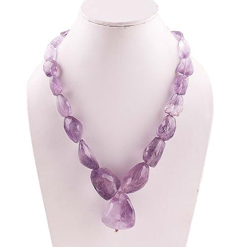 data di rilascio qualità superiore prezzi di sdoganamento Neerupam Collection Collana di perline in pietre di Ametista ...