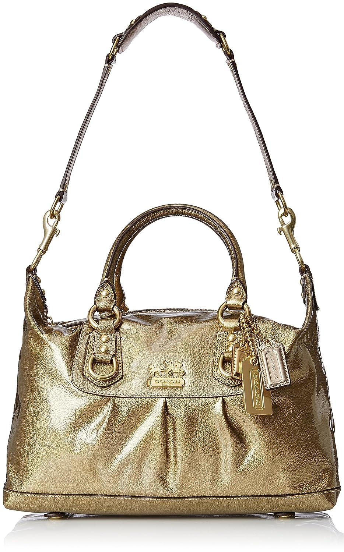 Amazon.com  Coach Madison Patent Leather Sabrina Satchel Bag Purse 15385  Antique Gold  Clothing de508ca802e52