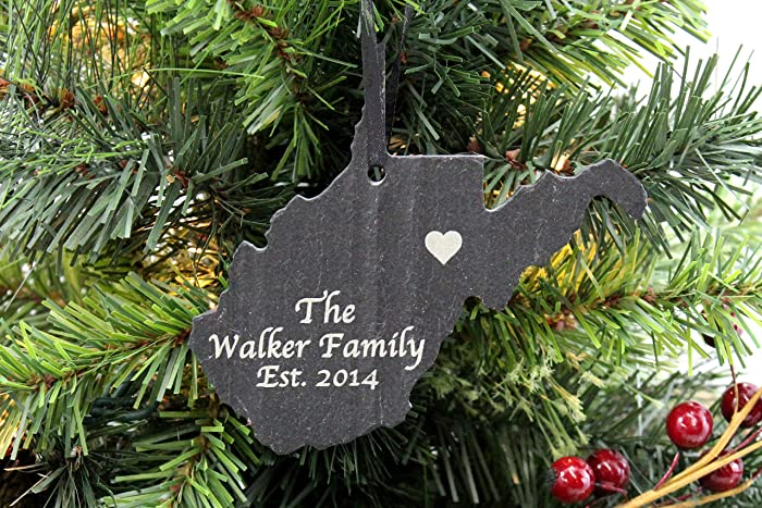 Image Unavailable. Image not available for. Color: Custom West Virginia  Slate Christmas Ornament- ... - Amazon.com: Custom West Virginia Slate Christmas Ornament