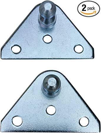 Zinc Plated 10 Gauge Steel Pack of 4 Lift Support Bracket for Gas Spring//Prop//Strut PerfectScore 10MM Ball Stud Angled Lift Support Bracket
