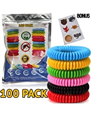 Mosquito Repellent Bracelet Bug Bands for Kids, Adults & Pets - Easy & Comfortable Citronella Anti Pest Protection - No More Bug Spray! + 6 Free Repellent Patches, Waterproof, 100% Natural