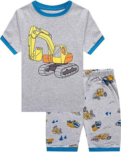 90b21bc1d23e shelry Baby Clothes Boy Truck Cotton Children Pajamas Set Christmas Cotton  PJs Set