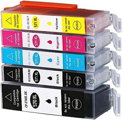 5 Cartuchos de impresora XL para Canon pgi570 X L cli571 X L ...