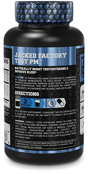 b611ae9c7e1 Amazon.com  Test PM Testosterone Booster   Sleep Aid Supplement for Men