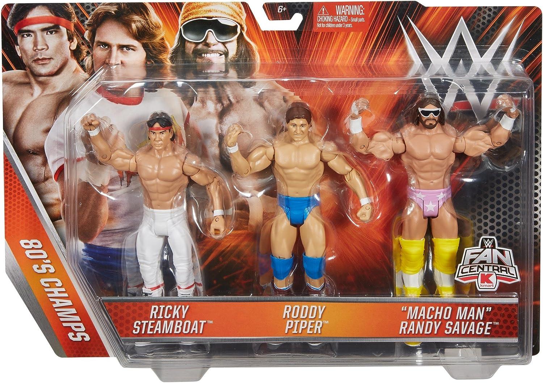 Ricky Steamboat Roddy Piper Macho Man Ra WWE Basic Figure 3 Pack Action Figure