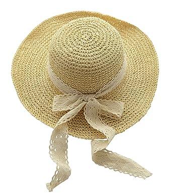 f3755a17d1b4c Urban GoCo Sombrero del sol Plegable Flexible para la Playa en el Verano  para Mujeres (