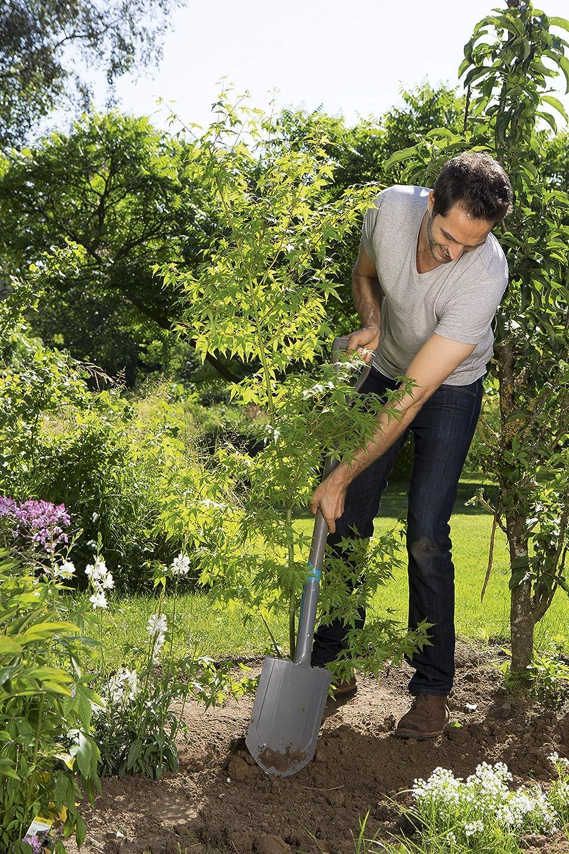 GARDENA NatureLine Spaten: Gartenspaten aus Qualit/ätsstahl zum Umgraben und Ausheben 17000-20 D-Griff sicherer Trittsteg Stiel aus FSC-Eschenholz