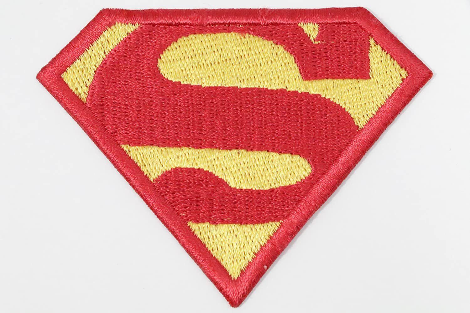Superman / Superwoman Logos DC comic Super Hero Embroidery iron on / sew on patch (Superman Red (8 cm x 6 cm)): Amazon.co.uk: Kitchen & Home
