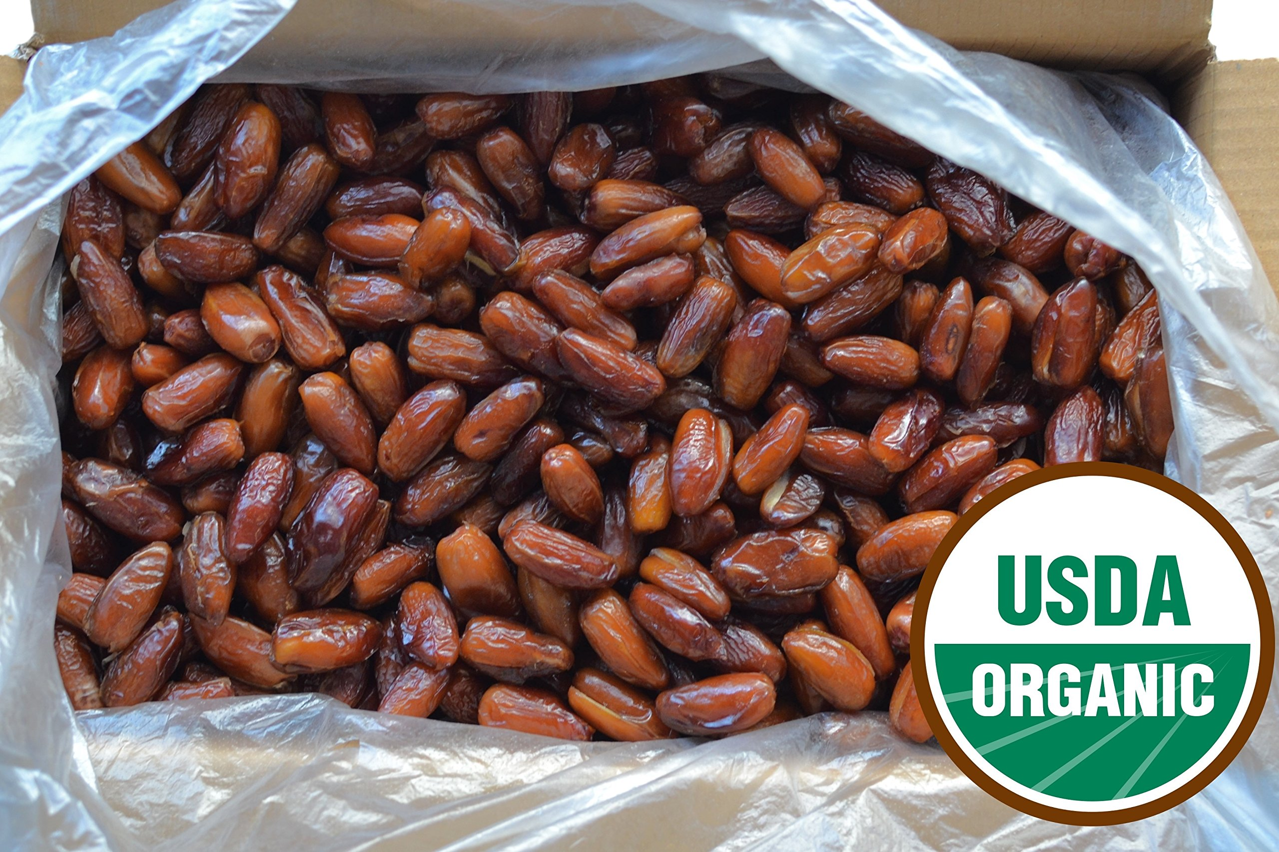 Organic Dates, Pitted, Deglet Noor (19.8 lbs)