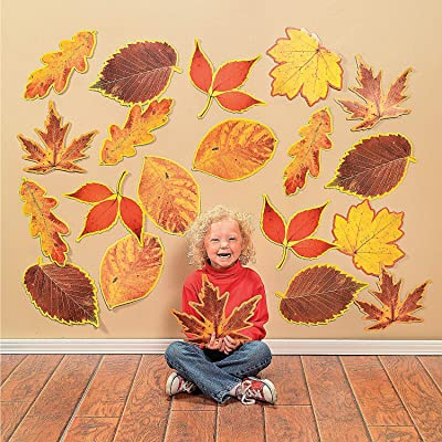 Fun Express Classroom Cutouts - Fall Leaves - 48 Pieces - Educational and Learning Activities for Kids: Toys & Games