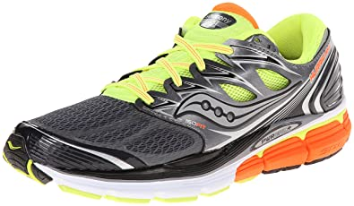 a9694685 Amazon.com | Saucony Men's Hurricane ISO Running Shoe, Grey/Citron ...