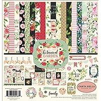 Carta Bella Paper Company CBBO98016 Botanical Garden Collection Kit Paper, Pink, Green, Black, red, Cream
