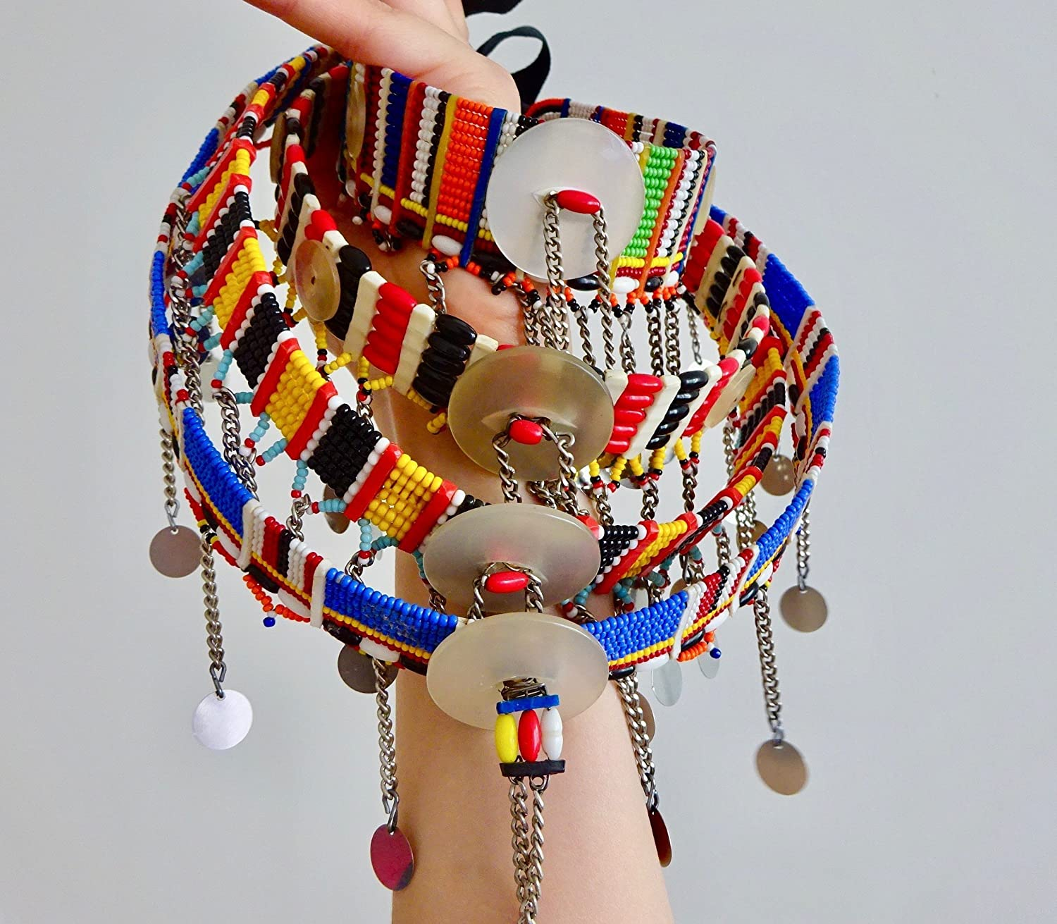 Jungle Necklace Ethnic Necklace Tribal Necklace Statement Necklace African Necklace Collier Africaine African Jewelry Maasai Necklace