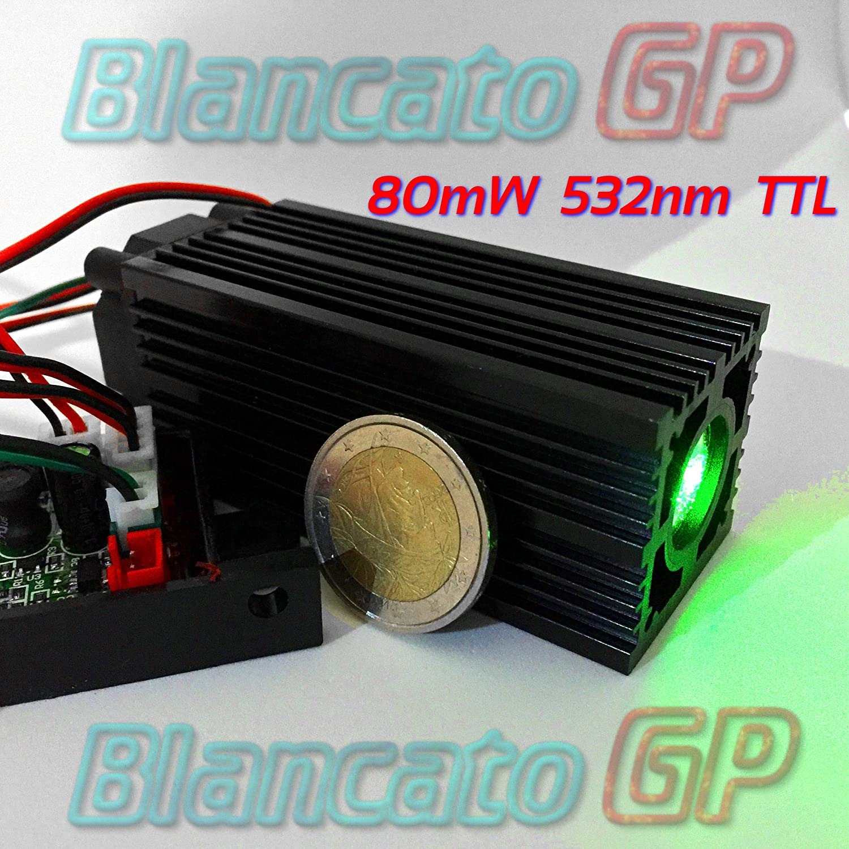 Module laser 12V TTL 80mW 532nm vert faisceau large Diode Stage module Fat Beam BlancatoGP