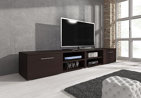 Lowboard holz dunkel  TV Möbel Lowboard TV-Element TV Schrank TV-Ständer Entertainment ...