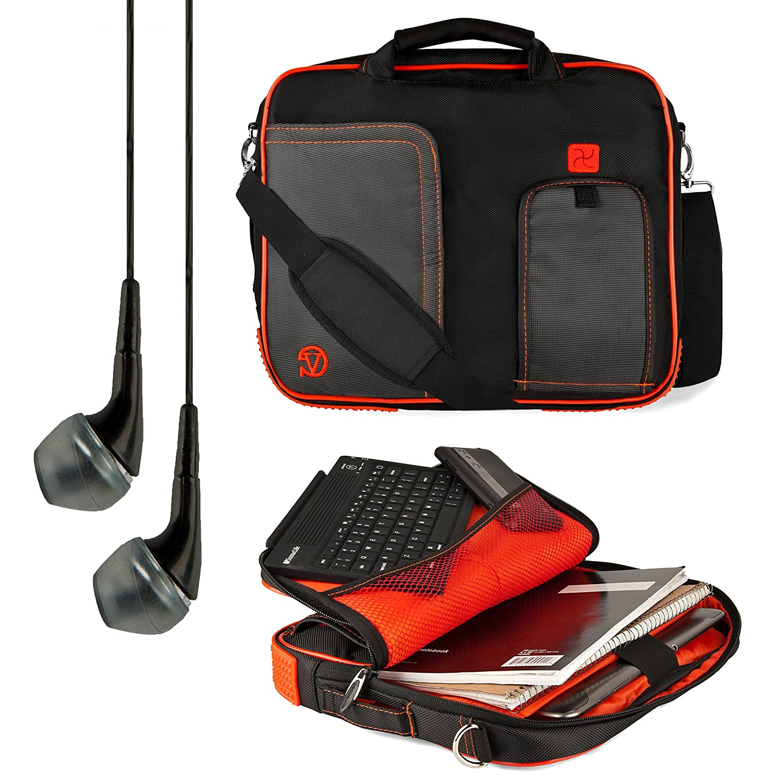 VanGoddy PindarメッセンジャーCarrying Bag for Asus ZenPad 10 / Memo Pad 10 / Transformer Pad 10 / VivoTab 10.1インチタブレット+ VanGoddyヘッドフォン(レッド)   B00GNM9X52