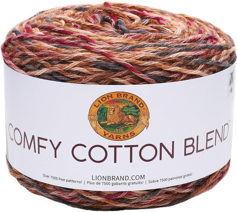 Lion Brand Yarn 756-720 Comfy Cotton Blend Yarn 1 skein//ball Lovie Dovie
