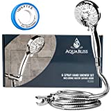 AquaBliss TheraSpa Hand Shower – 6 Mode Massage Shower Head with Hose High Pressure to Gentle Water Saving Mode - 6.5 FT No-T