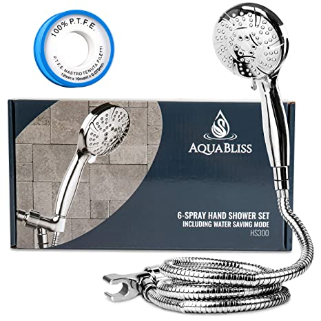 Amazon.com: Regadera de mano Aquabliss alta presión 6 ...