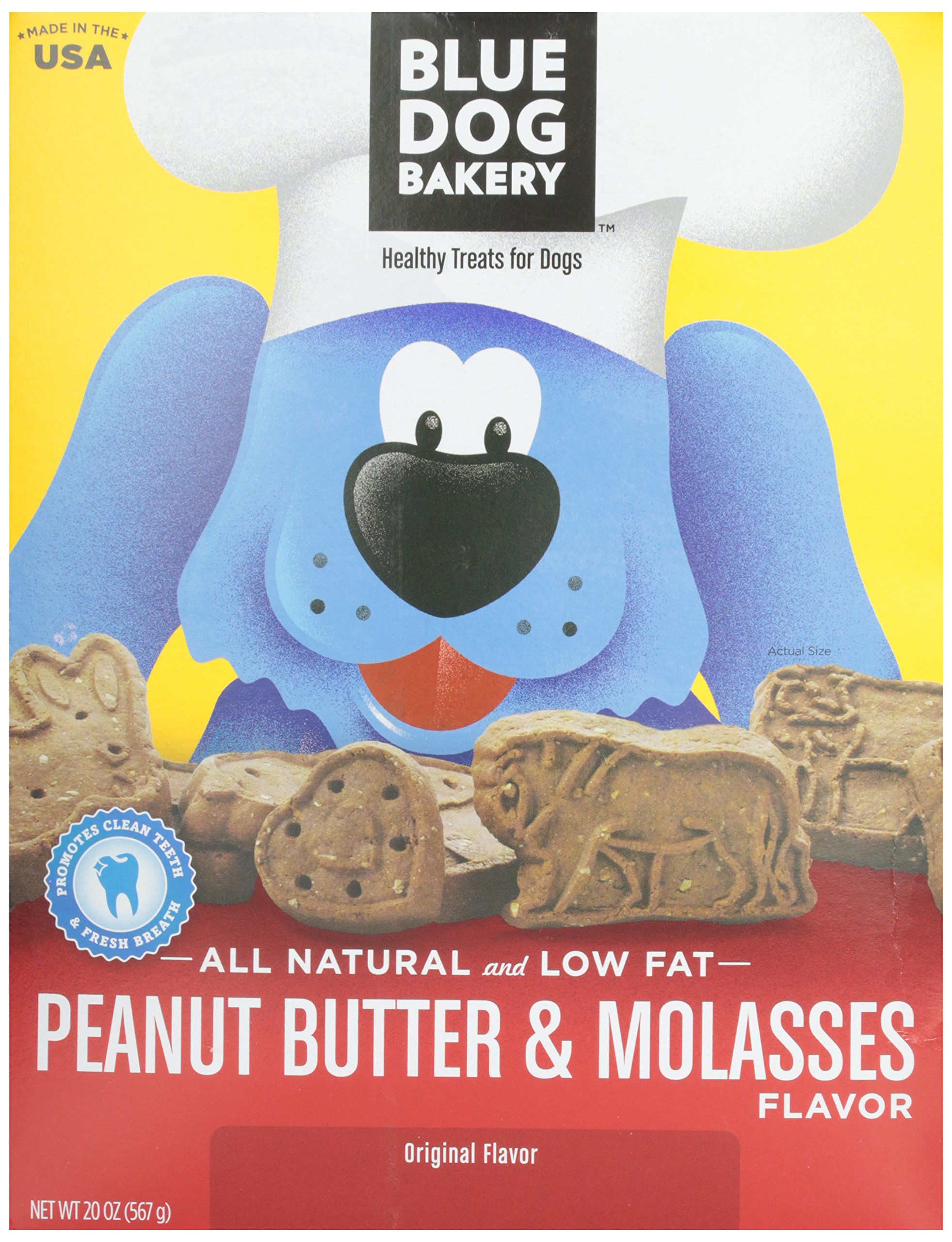Blue Dog Bakery Natural Low Fat Peanut Butter & Molasses Biscuits, 20 oz