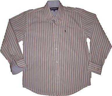prinston - Camisa Manga Larga - para niño Blanco Rojo 10 años ...