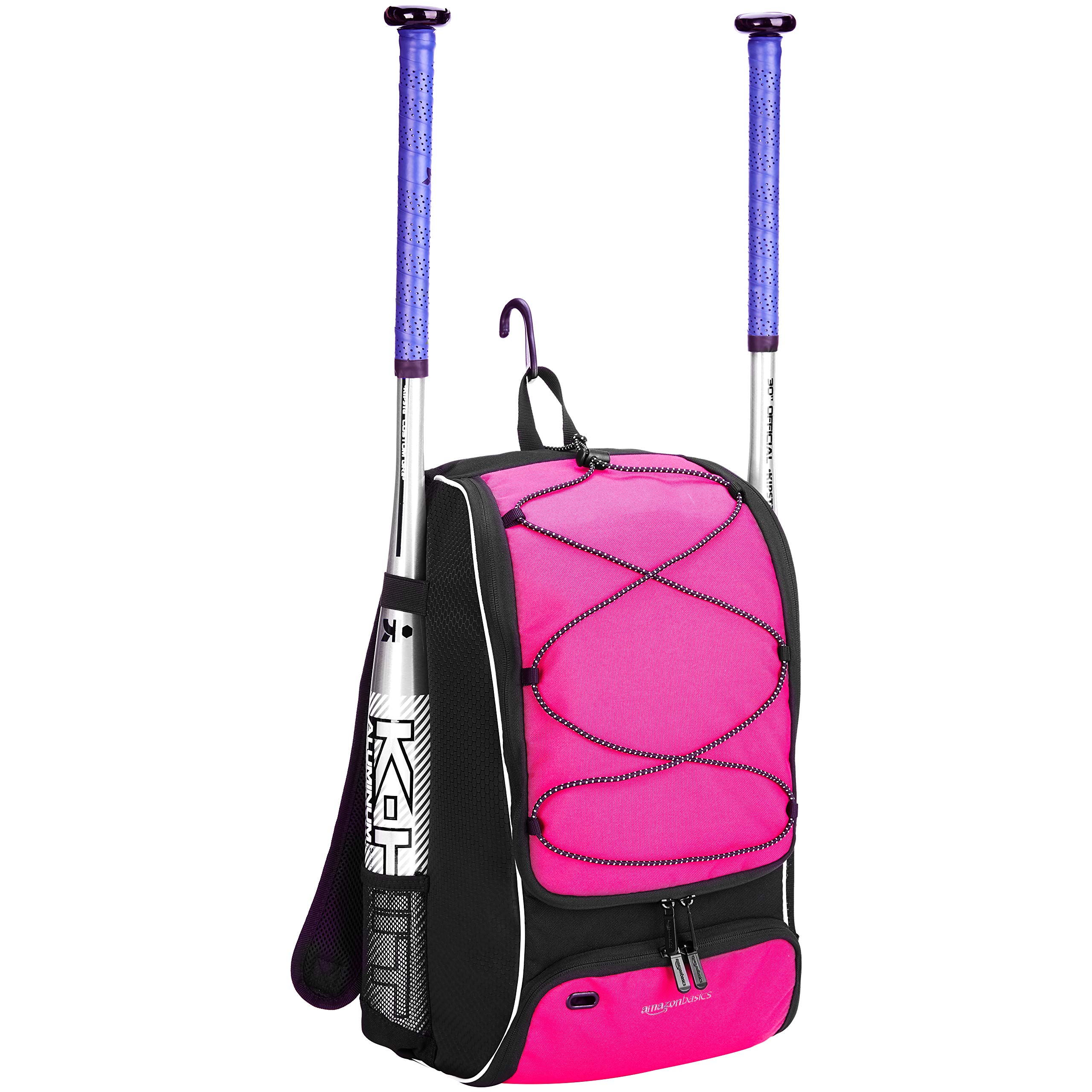 AmazonBasics Youth Baseball Equipment Backpack, Pink by AmazonBasics (Image #2)