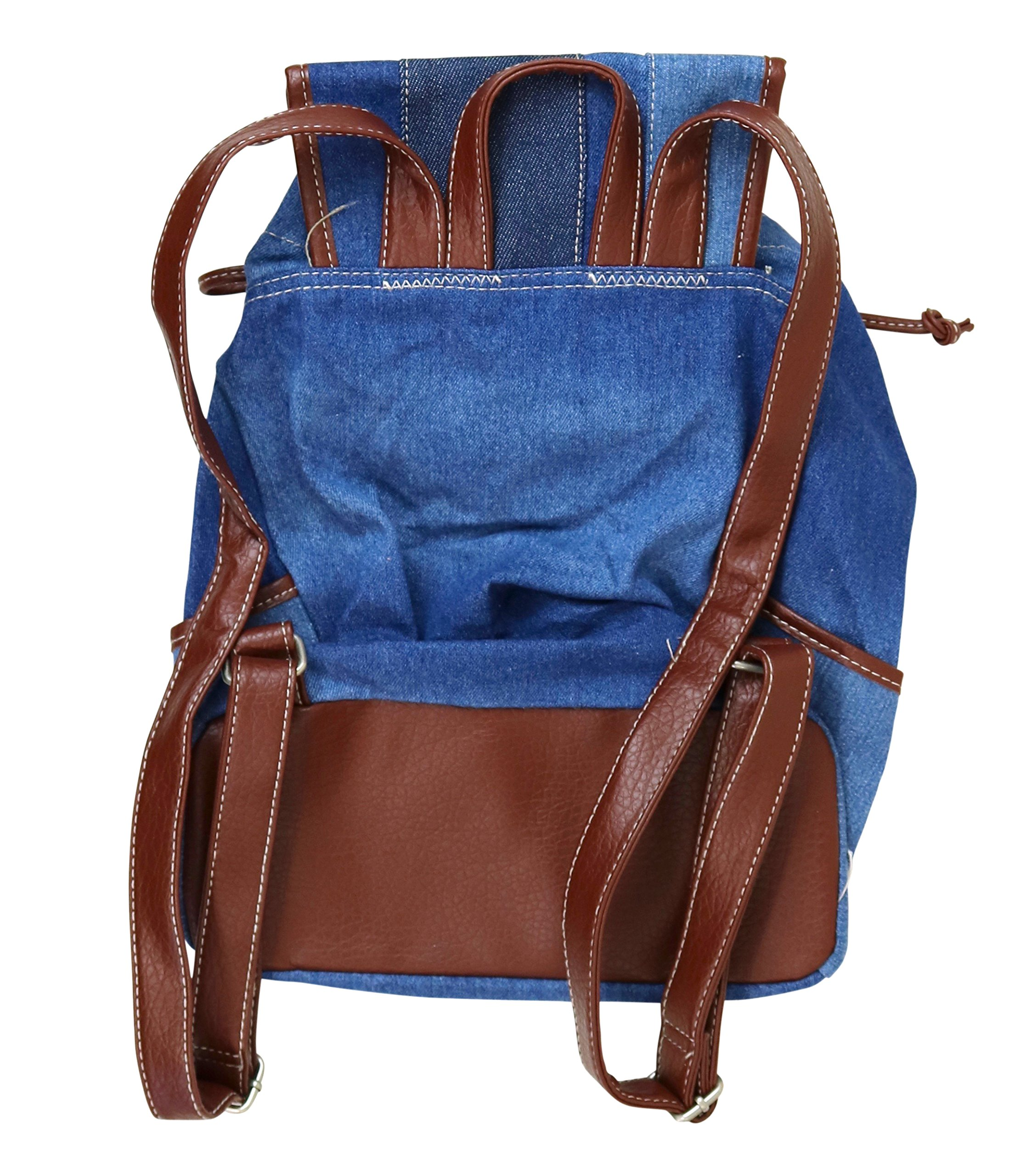 Unionbay Denim Backpack Handbag with Adjustable Faux Leather Straps by UNIONBAY (Image #2)