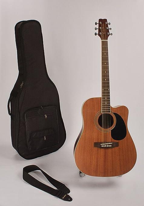 6 cuerdas de guitarra acústica Cuerdas de acero de corte dreadnaught configuración en mi tienda listos