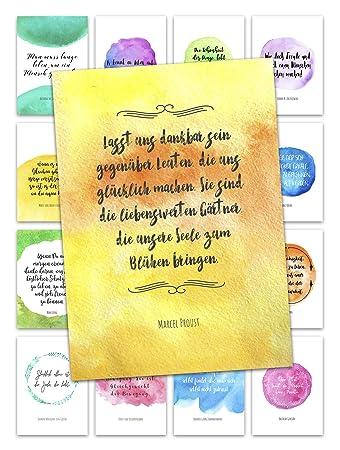 Postkarten Set Leben Liebe Motivation Mit Umschlag 16
