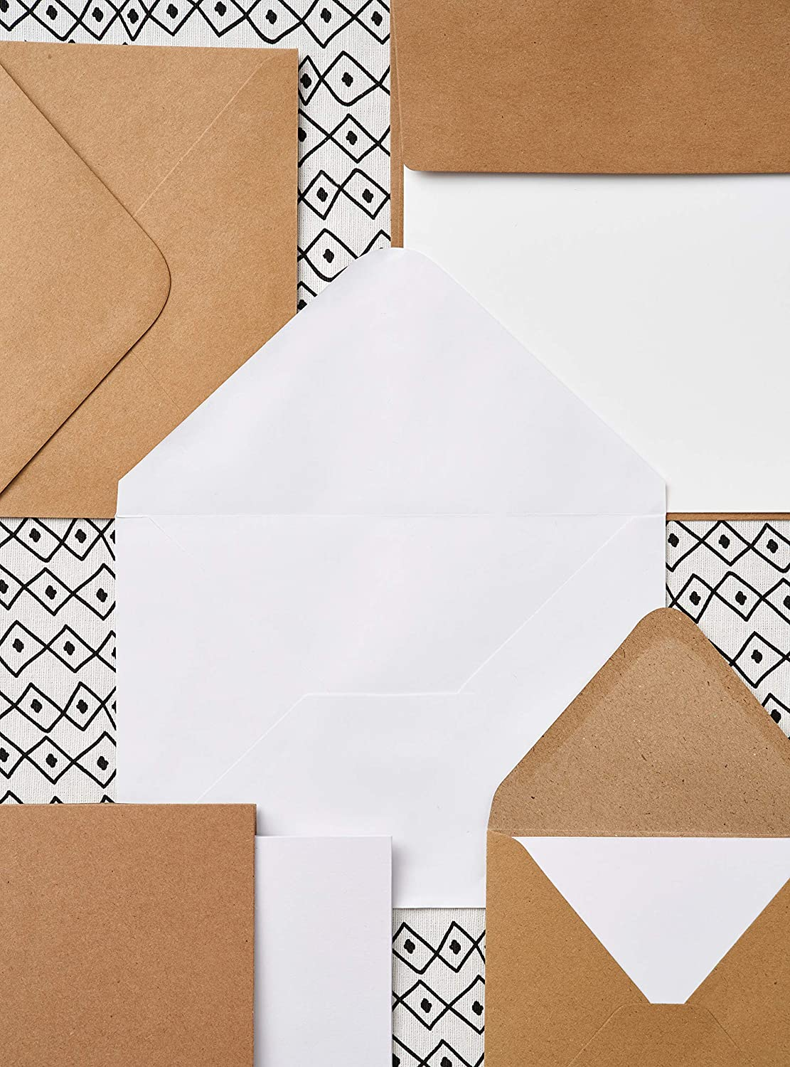 Pack Of 20 Anitas 5 x 7-inch 240 Gsm Textured Cards And Envelopes Cream
