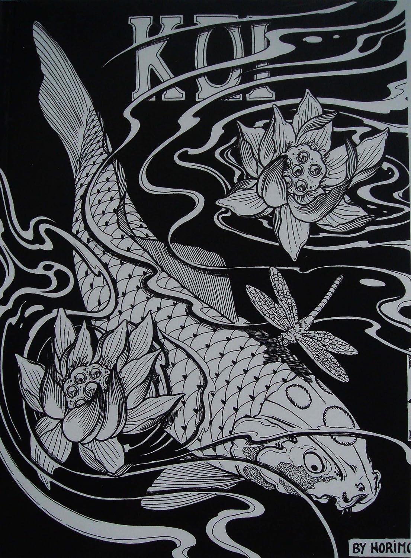 Japanische Tattoo Vorlagen Book Buch Koi 210mm x 285mm DIN A4 Neu ...