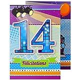 Age Mv 69 2014 Carte Joyeux Anniversaire 14 Ans Ados Garcon Fille