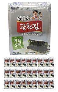 Kwangcheonkim Kim Green Laver Seasoned Seaweed Snacks 4g X 27 Packs = 108 grams / 27 Individual Packs (27 Pack) // 김, のり, 海苔, 紫菜