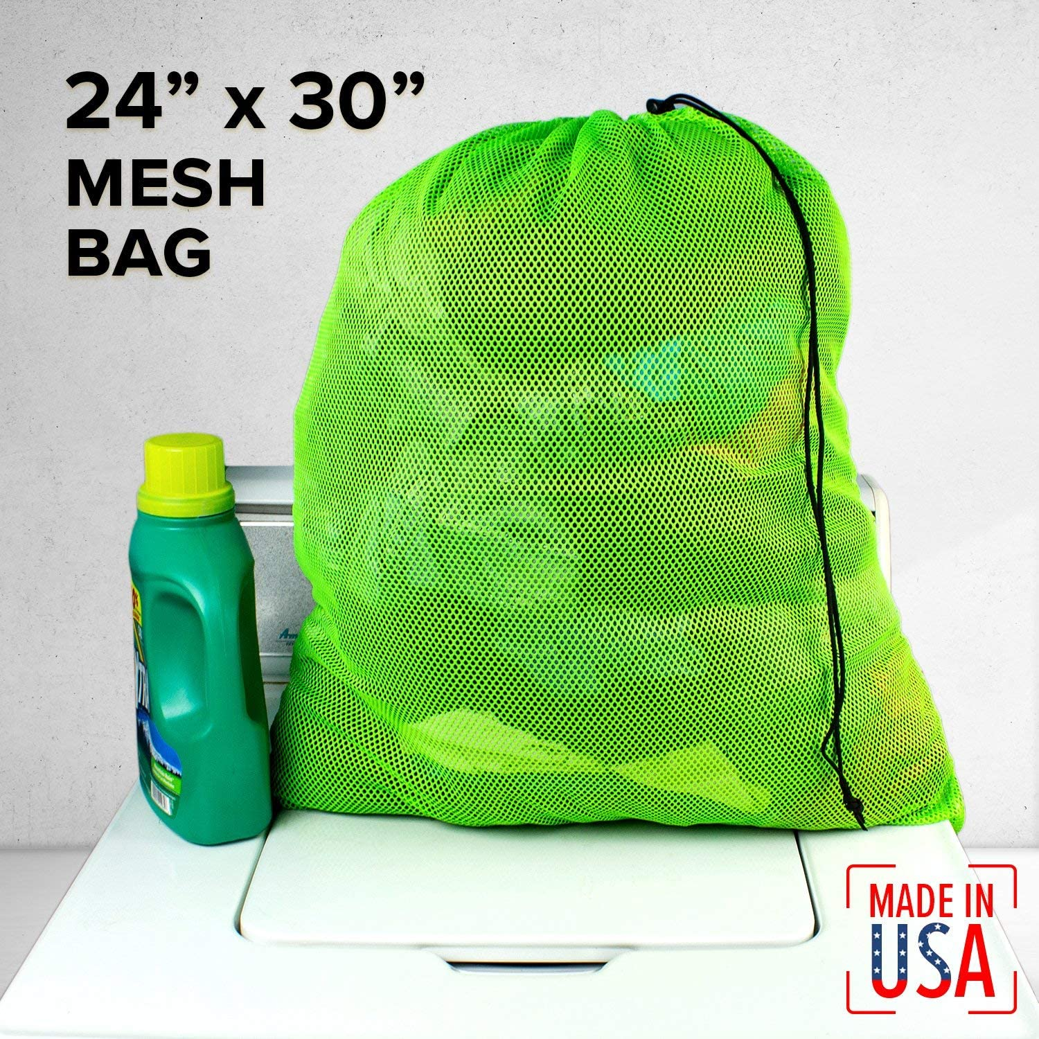 Gym Ventilated Washable Reusable for Laundry SGT KNOTS Mesh Large 550 Paracord Drawstring Camping Swim Diving 30 in x 40 in, Sky Blue