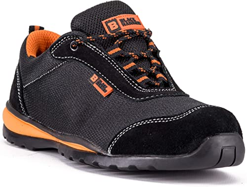 Mens Lightweight Steel Toe Cap Safety Work Trainers Shoes Boots Ankle Ultralight