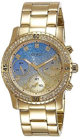 Guess Reloj Analógico para Hombre de Cuarzo con Correa en Acero Inoxidable W0774L2: Amazon.es: Relojes