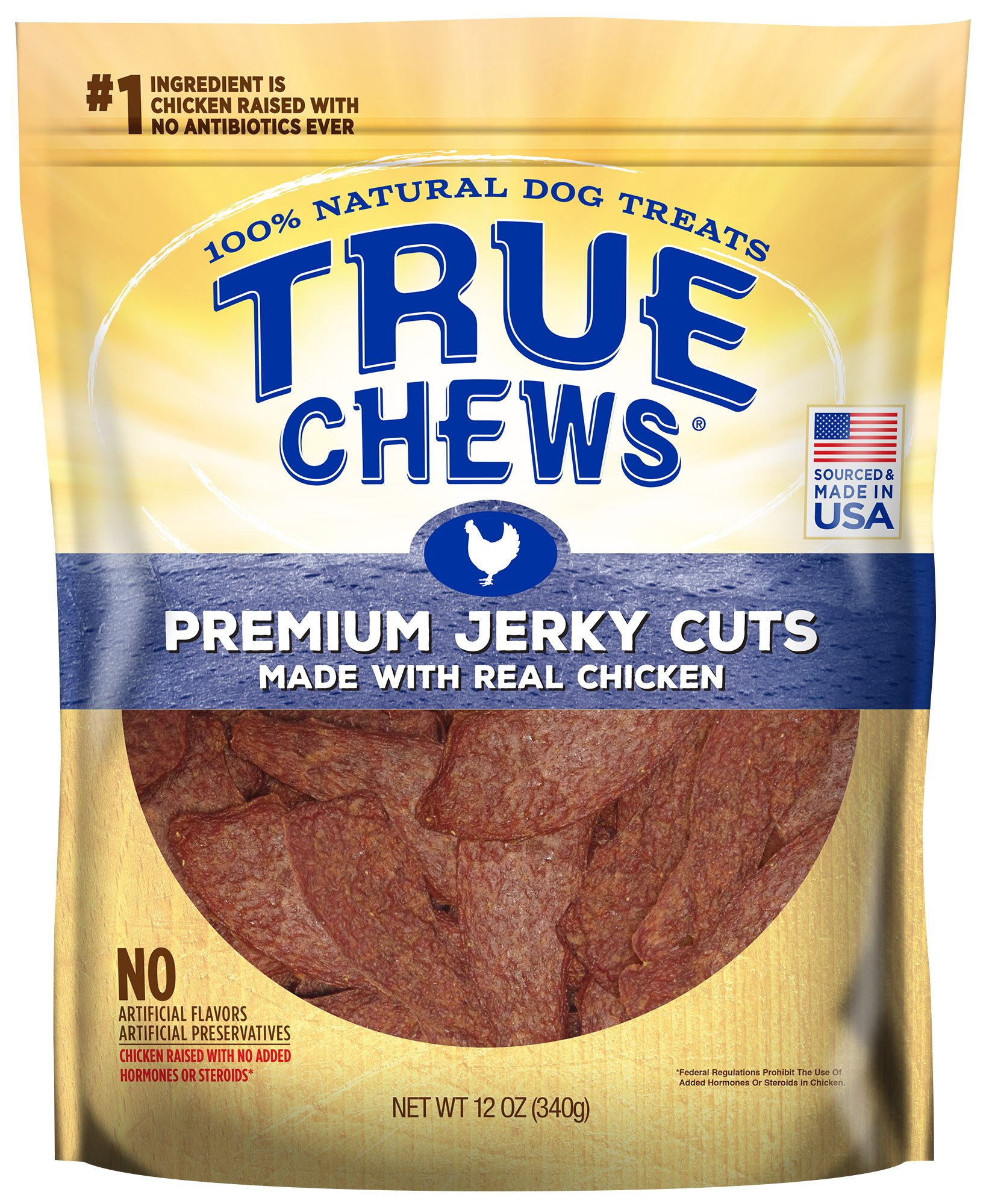 True Chews Tyson Pet Products Premium Jerky Cuts 12 Ounce Chicken by True Chews (Image #1)