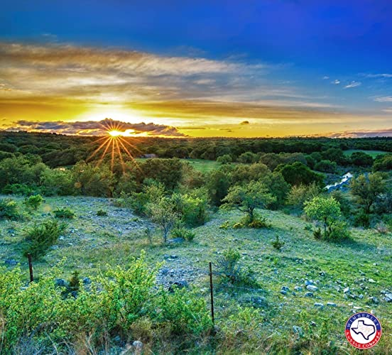 Amazon.com  Texas Hill Country Sunset - Artisan Signed Jigsaw Puzzle   Handmade e2859bd772e